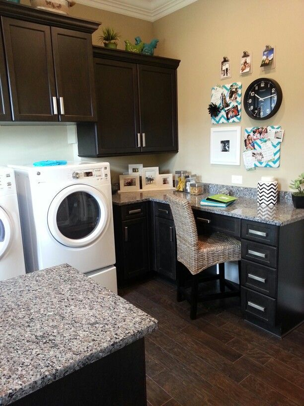 9 best home office space in a laundry room images on for Laundry room office