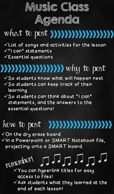 Agenda for music lessons: What, why, and how to post an agenda #elmused