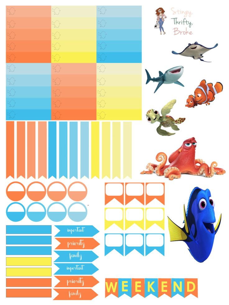 Free Finding Dory Planner Stickers