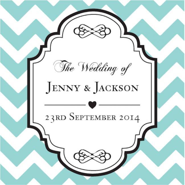 Chevron Personalized Favour Tag - Tiffany Blue!!  #Weddingtags #WeddingFavors
