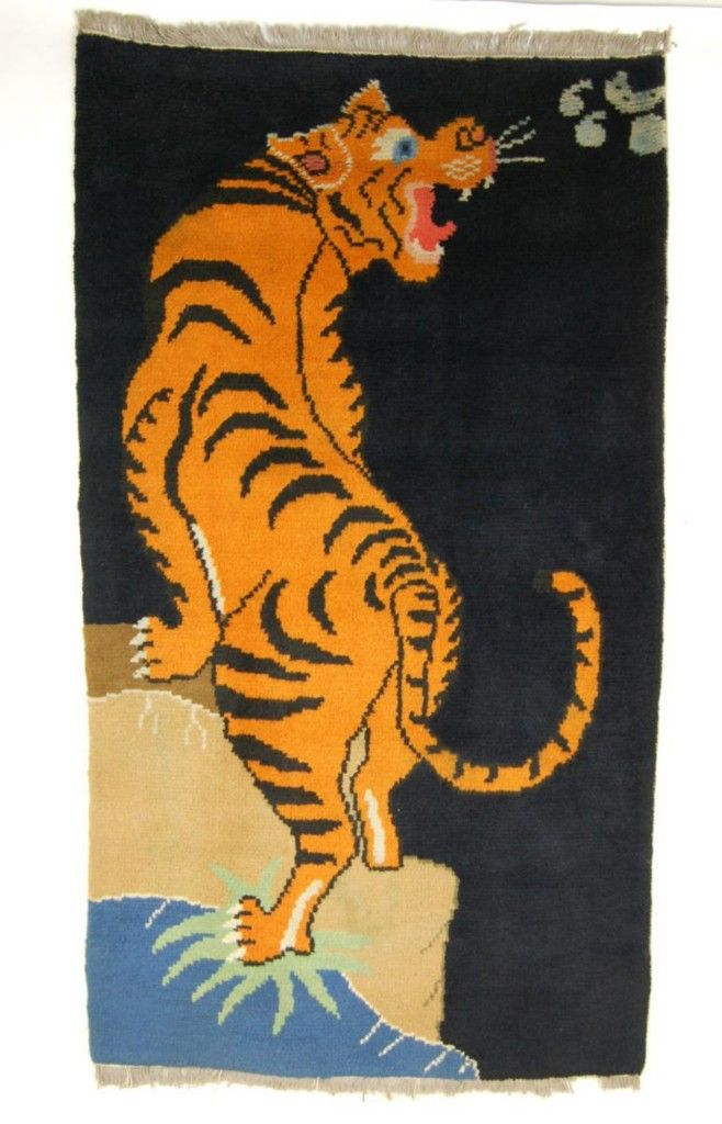 Antique Tibetan Tiger Rugs Rug Carpet Hand