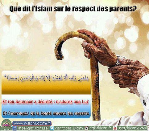 Le respect des parents.