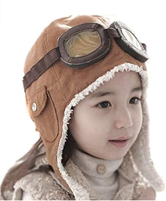 4561ab36711 Amazon.com  LIWEIKE Children Pilot Aviator Hat