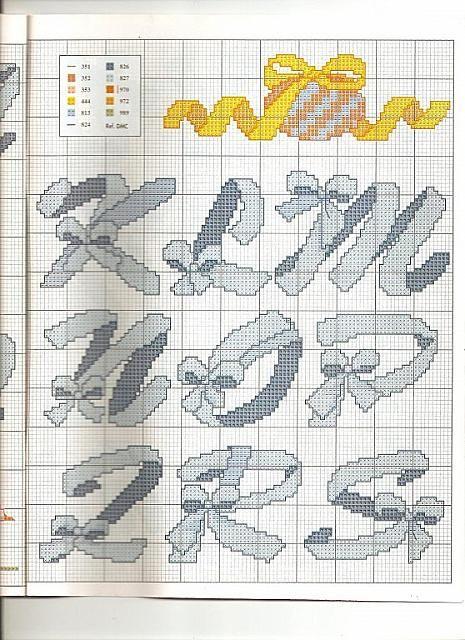alfabeto con fiocchi1 - magiedifilo.it punto croce uncinetto schemi gratis hobby creativi
