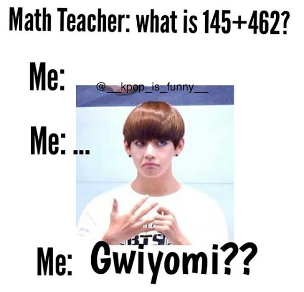 """Random story: I actually did this in class once!!! I've been trying to learn Korean and anytime I get nervous or anything like that I end up getting an accent and sometimes just say Korean words that I know...I was called on by my math teacher and asked me a problem that I didn't know my response was """"Gwiyomi?"""" Everyone looked at me. One girl started laughing because she knows what I'm talking about!!!"""