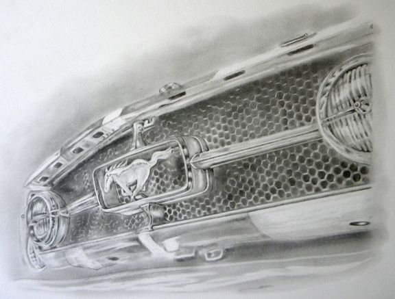 "howieart - ""Honeycomb & Corral"" The front grill of my '65 Mustang."