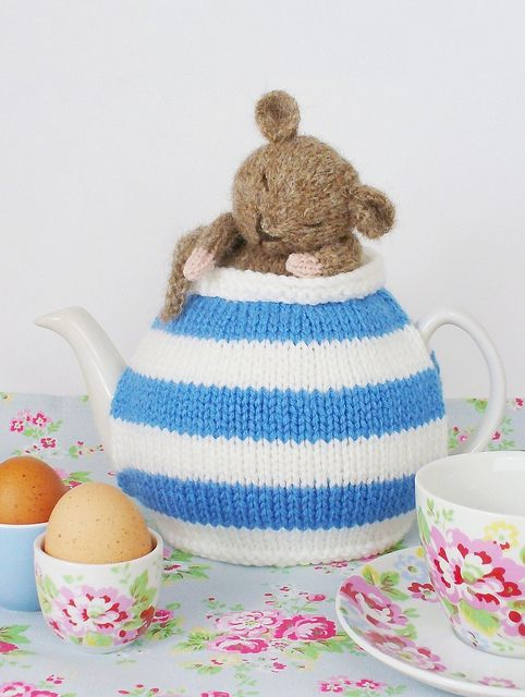 cornish mouse teacosy knitting pattern from debibirkin by debi birkin, via Flickr