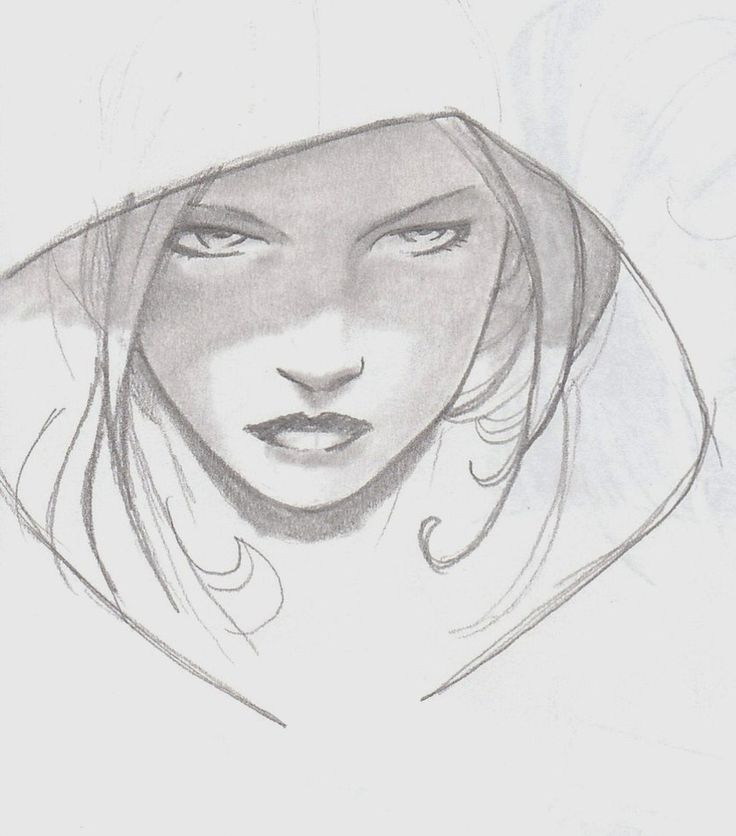 I love the concept of a hood on her...
