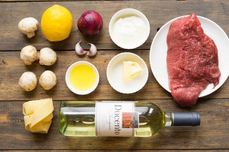 Бефстроганов, как приготовить говядину с грибами и сметанным соусом, пошаговый…
