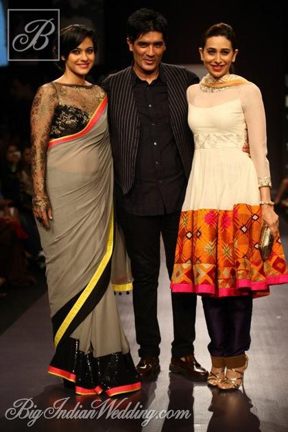 Manish Malhotra with Kajol and Karisma Kapoor at LFW 2013