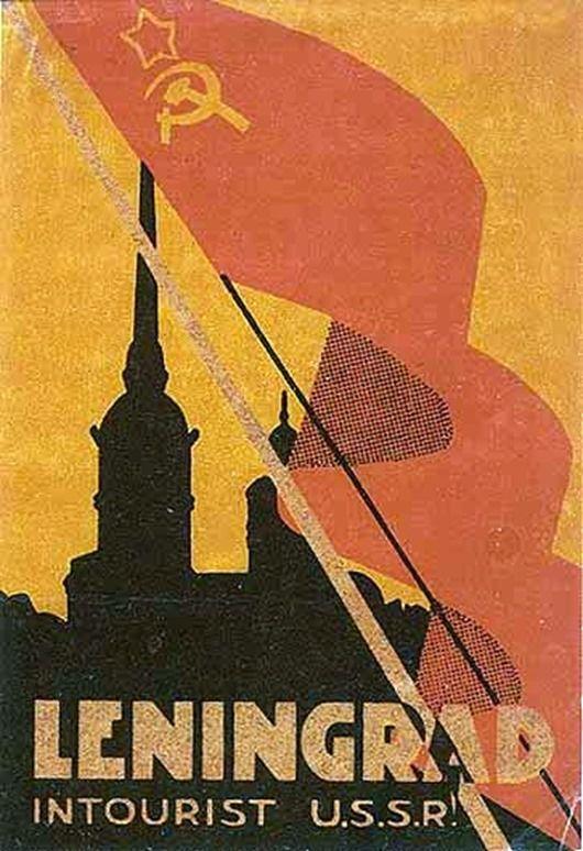 """Yabancılar için afişler """"Intourist"""", .. SSCB inci 1930-1960 gr. propagandanın tarihi"""