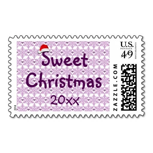 Snowflake heart pattern in purple-lavender color, Sweet Christmas Postage Stamp - Custom date. Also check out this link for free coupon offers, to get it cheaper! https://www.zazzle.com/coupons?rf=238298069376789985&tc=pin