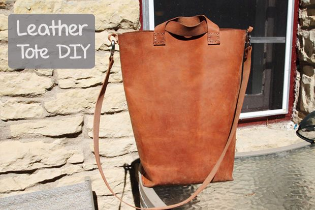 DIY Leather Tote - full tutorial. FOLLOW me personally if you like it - I made this tutorial. Holly *