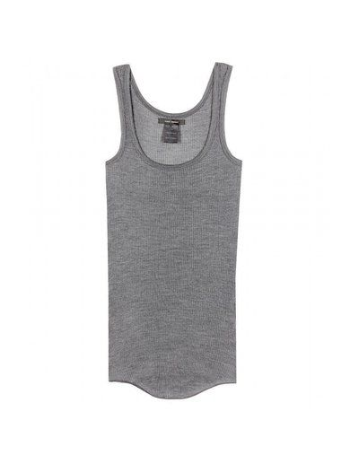'Grey silk-jersey top By Isabel Marant'