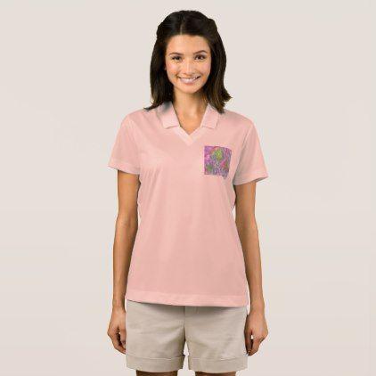 Pink Glaze Women's Nike Dri-FIT Pique Polo Shirt - pink gifts style ideas cyo unique