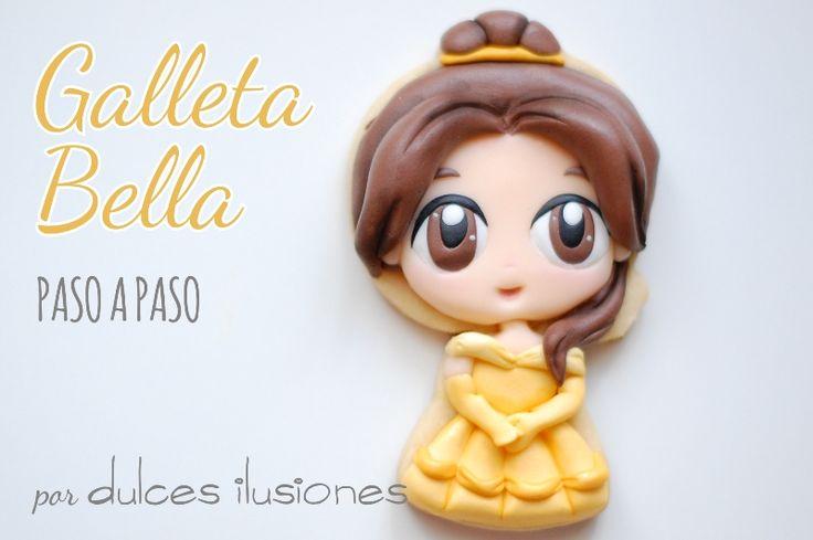 Cómo hacer a Bella en Galletas   Repostería creativa y Tienda online