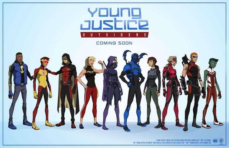 STATIC, KID FLASH, ROBIN, WONDER GIRL, SPOILER, BLUE BEETLE, NEW CHARACTER, ARROWETTE, ARSENAL, BEAST BOY #YOUNGJUSTICESEASON3