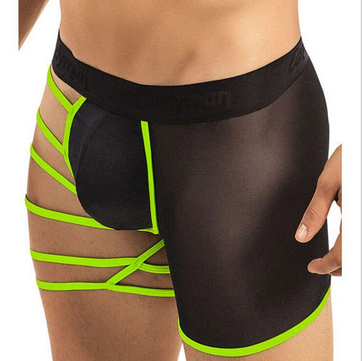 Sexy Club Men's Boxer Novelty Home Games Hollow Sexy Underwear knickers Lingerie For Men Drop Shipping