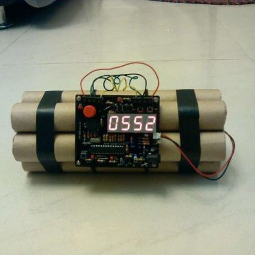 A unique alarm clock is also a great idea! This bomb like alarm clock (found at http://dudebrogifts.com/defuse-a-bomb-bomb-like-alarm-clock/) looks so realistic, he will never be late for work again!