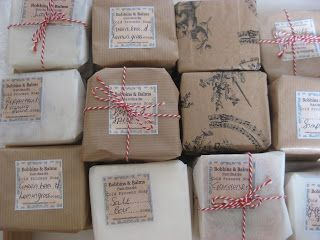 Bobbins and Balms: Beautiful Soap Packaging