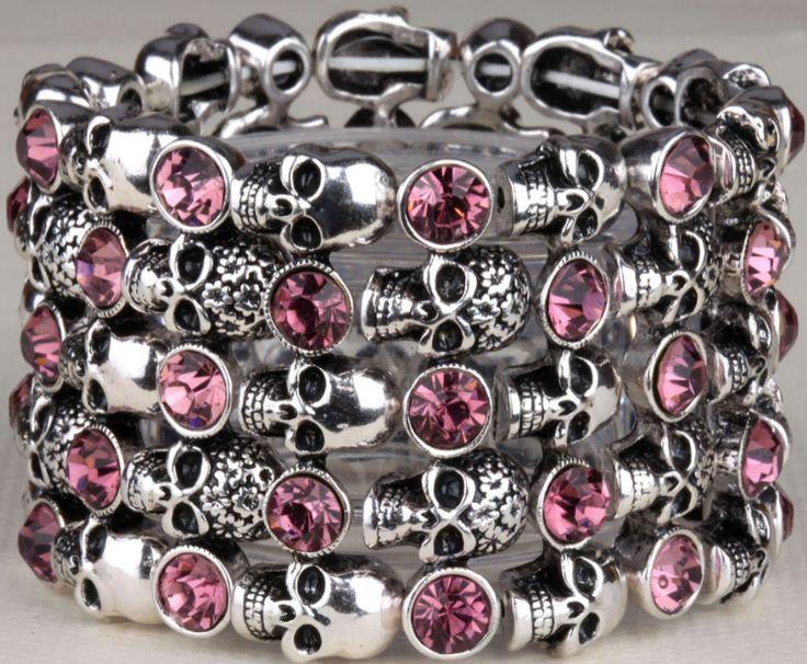 Crystal Skull Stretch Bracelet