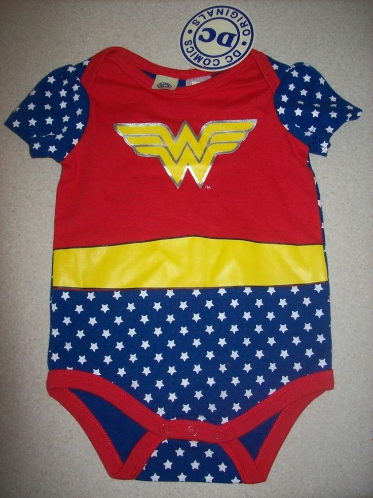 Wonder Woman Baby Girl DC Romper Onesie Bodysuit *Brand New*