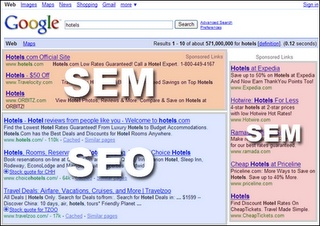 SEO & SEM that is Search Engine Optimization and Search Engine Marketing