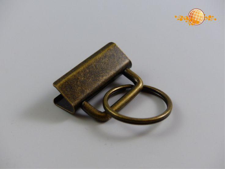 Schlüsselband-Rohlinge antik 30 mm mit Schlüsselringe Ø 25 mm