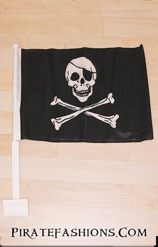 When you need to show yar pirate spirit when transporting on land, this car flag be perfect. • 12x15 size, double-stitched around all edges for durability • Double sized polyester, printed on both siz