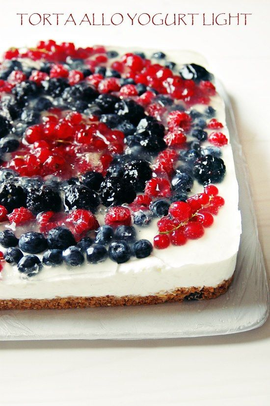 torta allo yogurt super light senza panna