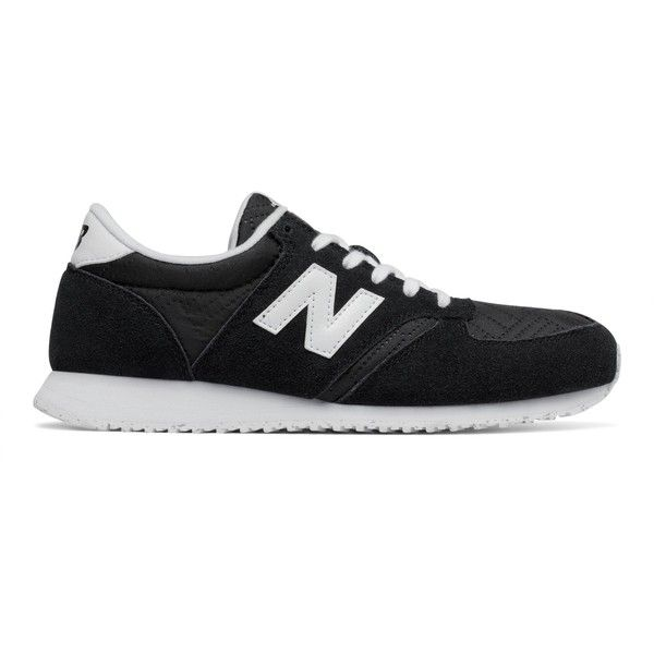 New Balance 420 70s Running Women's Running Classics Shoes ($60) ❤ liked on Polyvore featuring shoes, athletic shoes, new balance footwear, new balance, navy blue shoes, new balance shoes and navy shoes