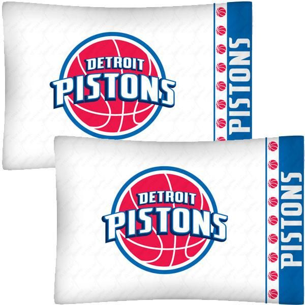 NBA Detroit Pistons Basketball Set of Two Pillowcases