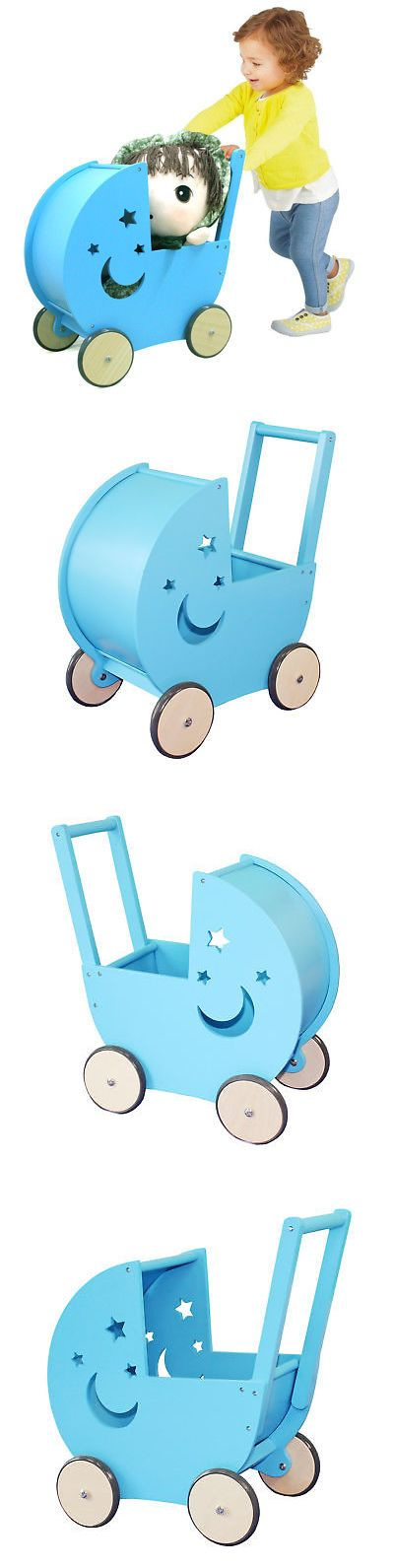 Other Toys for Baby 179013: Wooden Walker Doll Pram Buggy Pushchair Children Pretend Play Pram Toy -> BUY IT NOW ONLY: $56.98 on eBay!