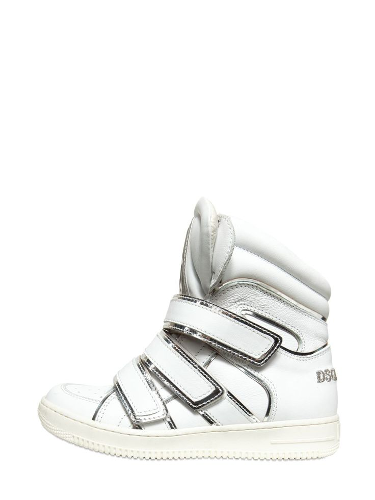 LEATHER HIGH TOP SNEAKERS -