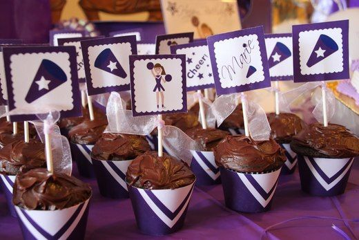 "Photo 12 of 28: Cheerleading / Birthday ""Purple Cheerleading 15th Birthday"" | Catch My Party"