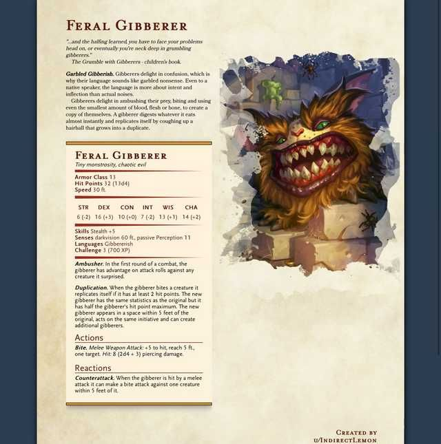 Every DnD homebrew monster I could find in 2019 | Character/Monster