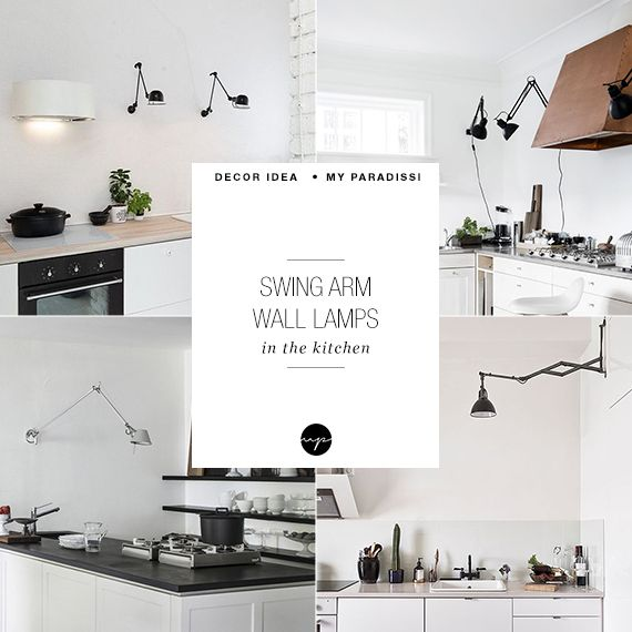 Swing arm lamps in the kitchen | My Paradissi