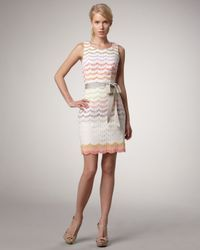Trina Turk | White Keller Scalloped Dress | Lyst