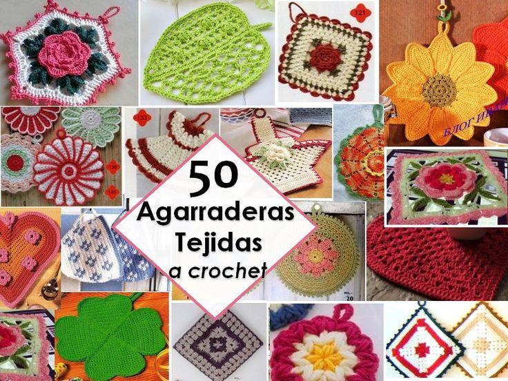 50 Agarraderas Tejidas a Crochet para Cocina