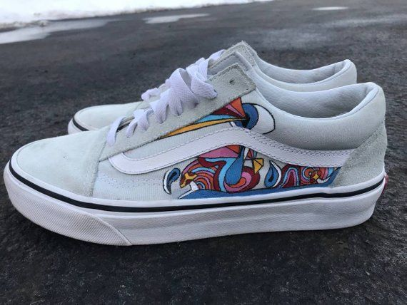 511ae1d71f5ec Psychedelic Custom Vans Old Skool Shoes | Custom Vans | Custom Vans Shoes |  Custom Sneakers | Psyche | Products in 2019 | Custom vans shoes, Shoes, ...