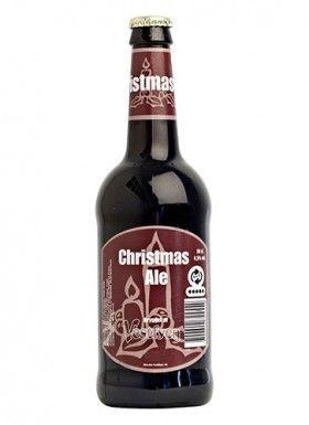 VESTFYEN CHRISTMAS ALE /  Ale – 6,5% vol.  Vestfyen Christmas Ale er brygget af malt, farin og humle. Øllet har en karakterfuld og vinøs smag med undertoner af mørke frugter som bl.a. rosiner og blommer samt en anelse lakrids. Desuden har øllet en let og frisk, citrusagtig bitterhed fra de forskellige engelske humlesorter.  Denne juleøl har en smuk mahognifarvet og en dejlig duft af friskbagt rugbrød og julekrydderier.