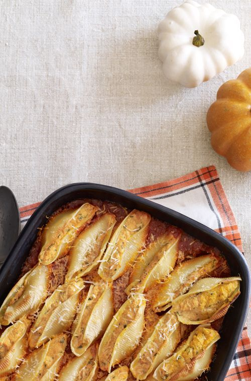 By incorporating pumpkin, this stuffed pasta recipe requires less cheese than is typically used.
