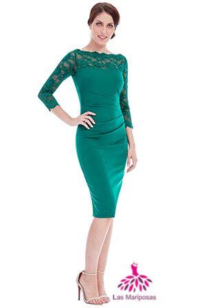 Mary Midi πράσινο δαντελένιο φόρεμα