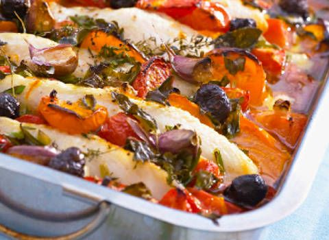 Baked Barramundi with Pumpkin and Capsicum: A gorgeous seafood dish that you will love to make over and over again.