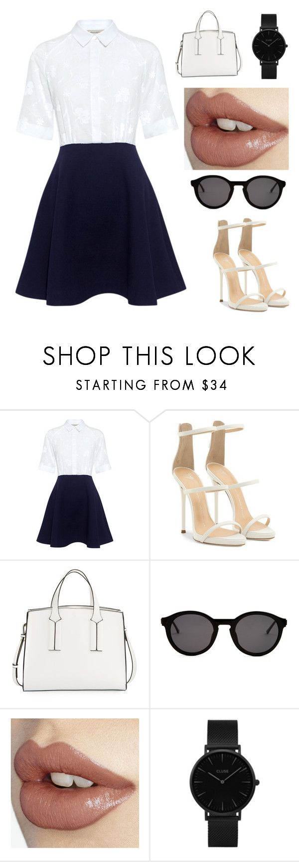 """""""The last day of school outfit"""" by emmalouloulovespolyvore ❤ liked on Polyvore featuring Paul & Joe Sister, Giuseppe Zanotti, French Connection, Thierry Lasry and CLUSE"""