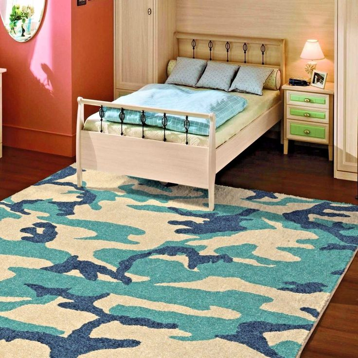 KIDS RUGS KIDS AREA RUG CHILDRENS RUGS PLAYROOM RUGS FOR KIDS ROOM CAMOUFLAGE ~~ #NewRug