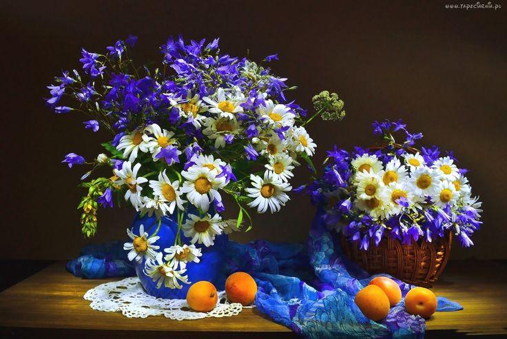 Bukiety, Polnych, Kwiatów, Morele, Margerytka
