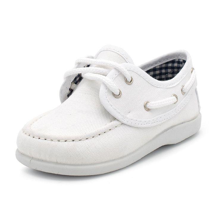 Chaussures bateau en Toile avec lacets Garçon - Chaussures en ligne Pisamonas