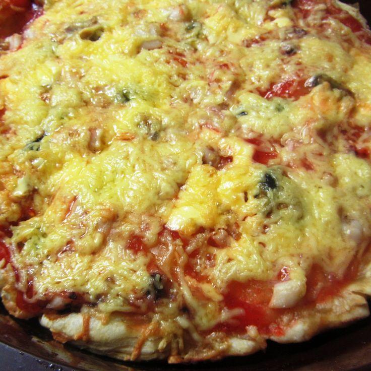 Пицца с морепродуктами и сладким перцем