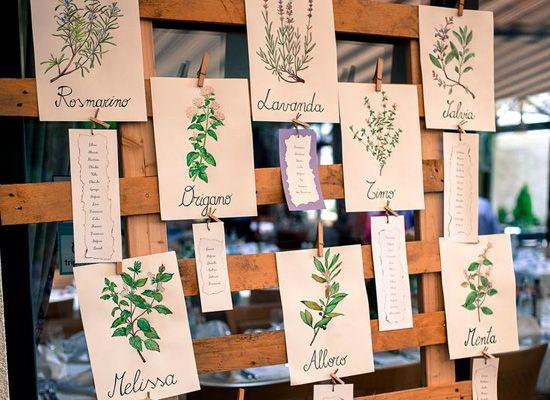 Matrimonio.it | #Tableau #matrimonio: Barolo, Chianti e Barbera #erbe #aromatiche